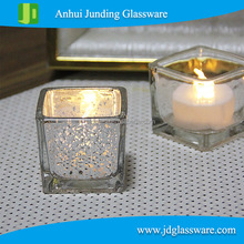 hot selling wholesale different sizes stock square glass candle holder