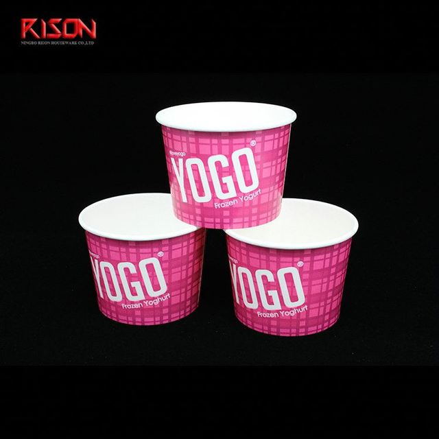 Biodegradable disposable frozen yogurt Icecream cup
