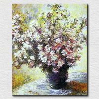 Hot Selling New Design Modern Handpainted Wall Art Abstract White Flower Oil Painting on Canvas