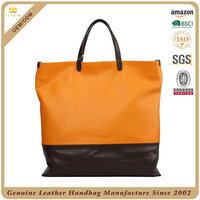 S152-B2347 2014 large zippered reversible tote bag leather ladies handbag women bags