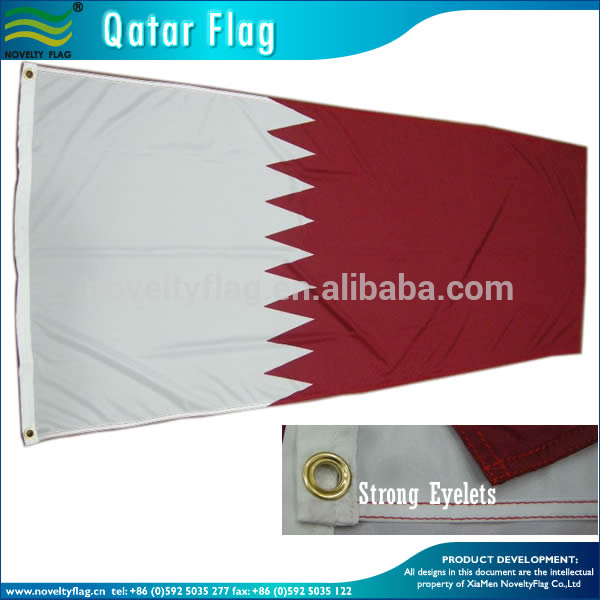 Good quality polyester qatar flag for national day 2015