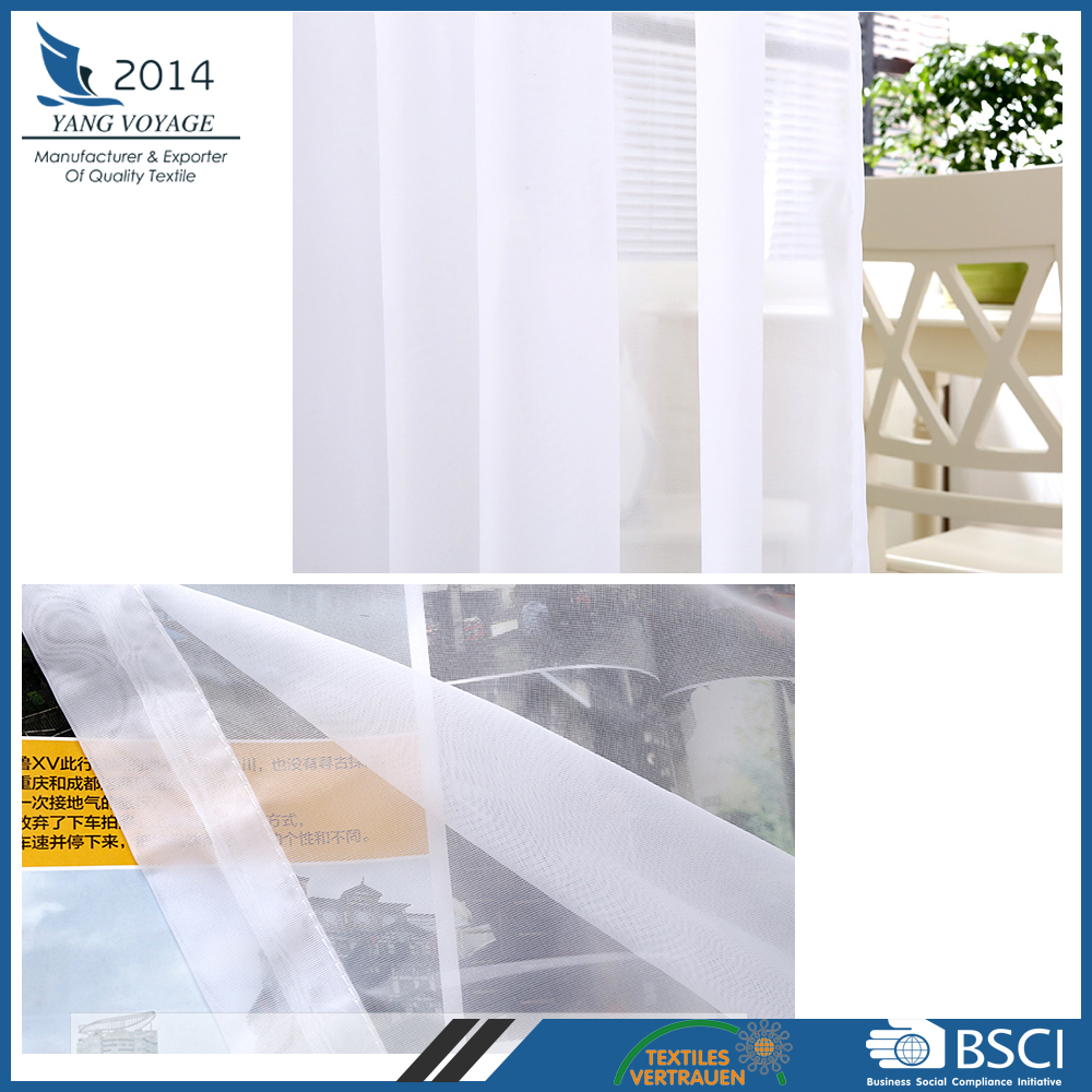 Popular 100% Polyester germany 42gsm window fabric voile sheer curtain
