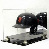 Deluxe Acrylic Full Size Batting Helmet Display Case with Stand