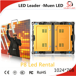 P8 outdoor rental led display 1024*768 / outdoor smd full color p8 led display for stage rental