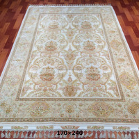 handmade persian wool and silk blend carpet chinese wool rugs for wholesale