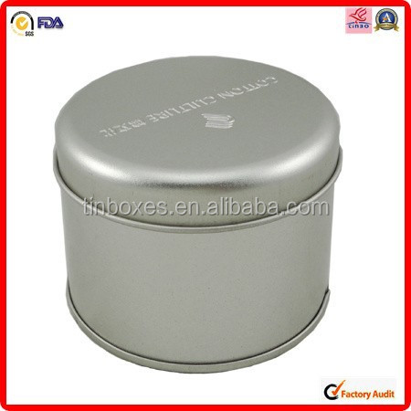 varnish stamping printing round laundry powder tin box