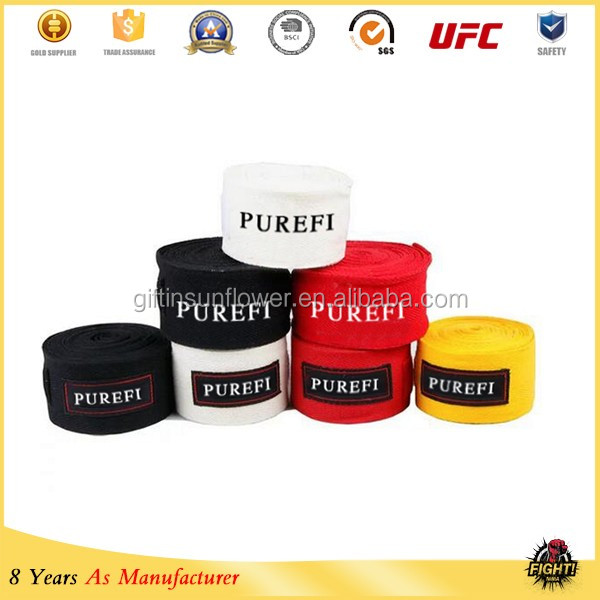 Cotton Custom Boxing Hand Wraps/ Hand Wraps For Kick Boxing