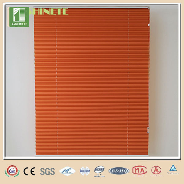 Pleated shade plastic holder for blinds