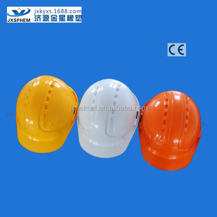 ABS ventilated Industrial construction cap and hat of 6 point suspension with chin strap