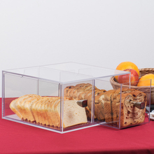 Transparent acrylic bread storage case food display holder container