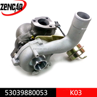 Aftermarket 12 month warranty turbocharger for audi a3 1.8t engine 53039880053