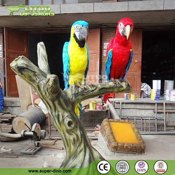Theme Park Decoration Animated Animals Simulation Animals Parrot