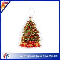 2014 new design christmas tree paper car air freshener
