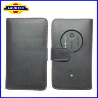 2013 Hot Selling High Quality Wallet Leather Case for Nokia Lumia 1020 Laudtec