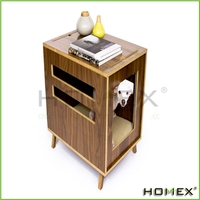 2016 Multifunction New design end table with pet crate Homex_BSCI
