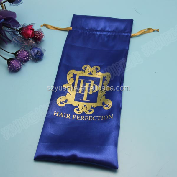 China Satin Material Thermal Dye Sublimation Hair Weave Bag Exporters