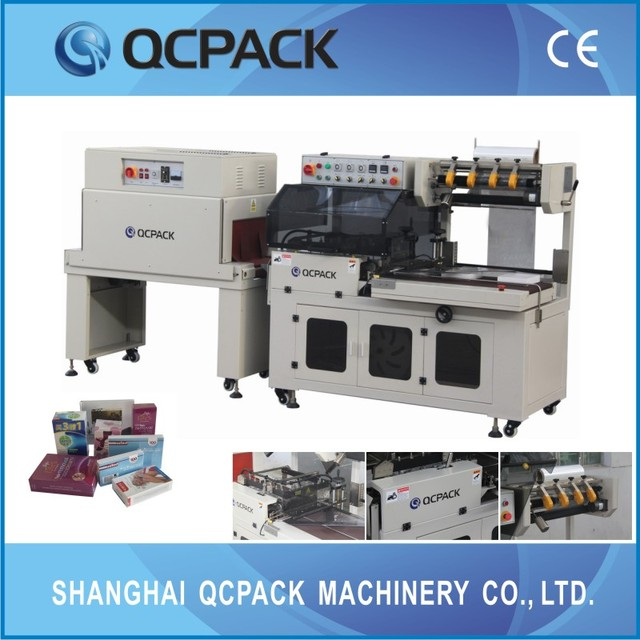 Film-packing BTA-450+BM-500 CE automatic heating shrink film packaging machine for cigarettes