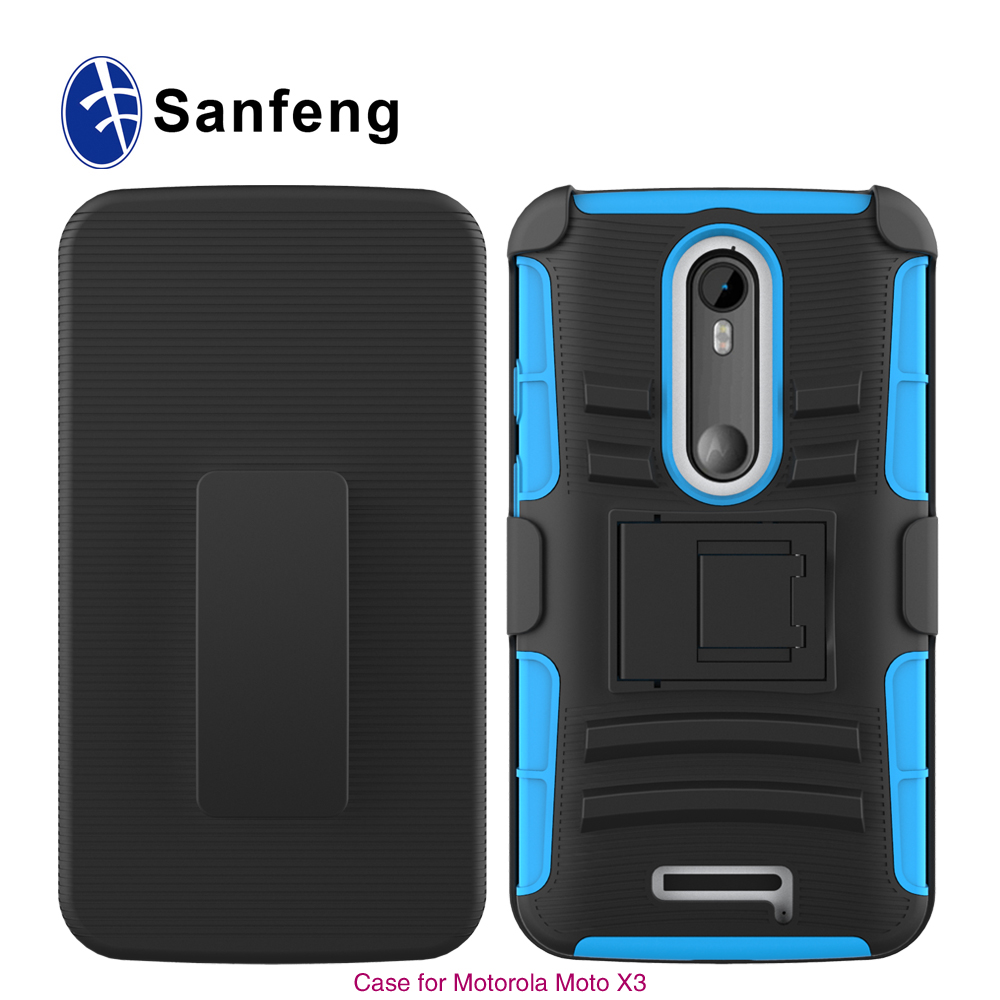 Hot sale high quality Hybrid for Motorola Droid Turbo 2 XT1585 Moto X Force holster design case cover