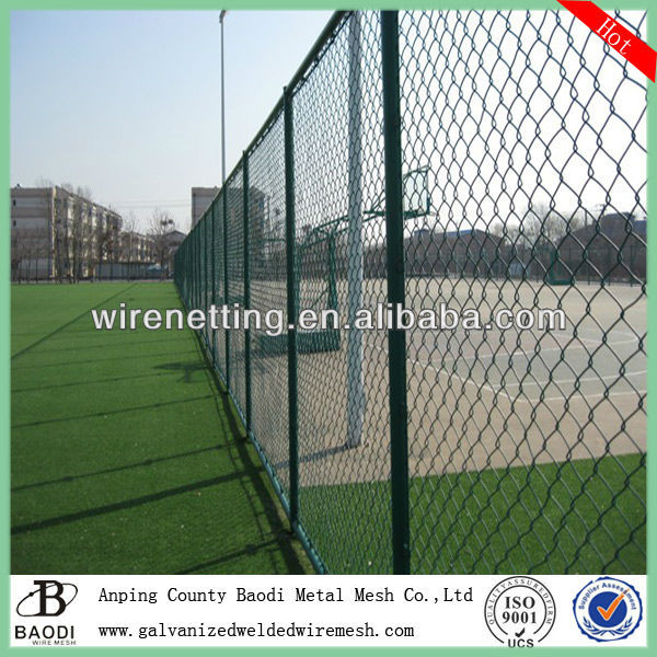 anti-climb vinyl clad twisted edge chain link fence