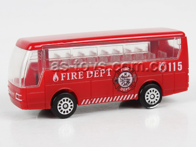 hot sale 1:72 free wheel diecast fire engine new model bus with cheap price