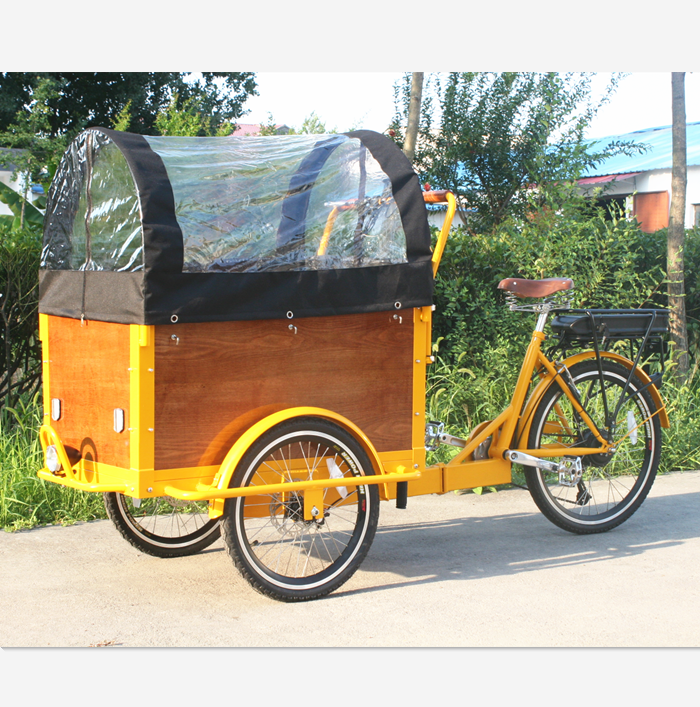 cargo carrier bike tricycle with raincover for sale