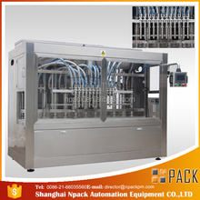 PLC control glass oil bottle filling machine