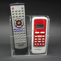 2 Compartments Remote Control Holder Wall Mounted Decoratic Storage Box