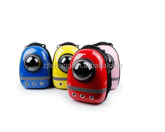 China Factory Wholesale capsule ABS carrier bubble clourful dog cat pet backpack/bag