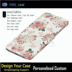 Beautiful flower mobile phone cover,customized case cover for iphone 6s 6plus