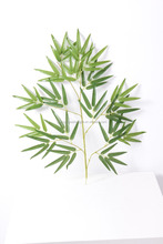 CHY070905 artificial plastic bamboo leaf/bamboo craft leaf/handmade bamboo crafts