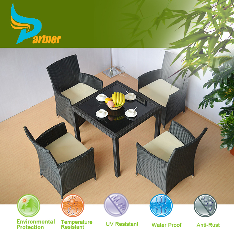 Hotel Balcony 5pcs Rattan and Wicker Aluminum Outdoor Rattan Furniture Bangkok