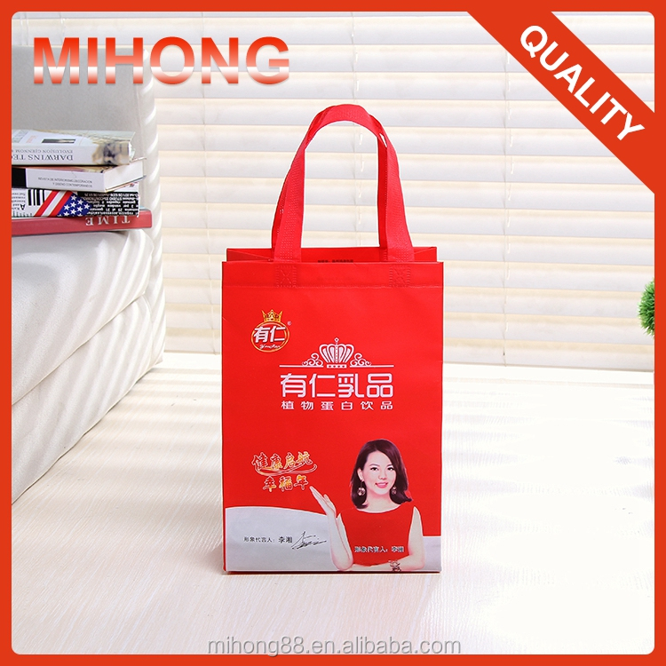 Eco-friendly custom foldable promotional pp laminated non woven shopping bag
