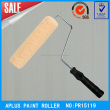 lint free polyester paint roller with 4 wires cage