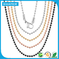 Best Selling Items Stainless Steel Silver Gold Rose Gold Plated Ball Chain