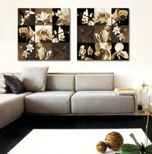 High Quality Canvas Wall Pictures Beautiful Flower Design Fabric Painting for Home Decoration