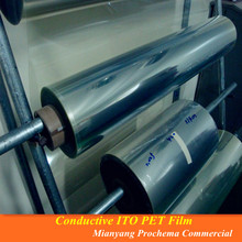 5ohm Conductive Indium Tin Oxide Film, Clear ITO Film for EMI shielding