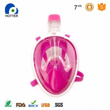 Full Face Mask Factory Direct Supply New Design Snorkel Mask Full face with Pending Patent