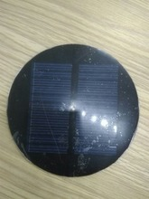 0.5w 0.8w 1w 1.2w round epoxy solar panel with connector