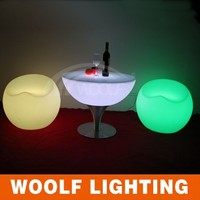 Hot sale led light round table led light table