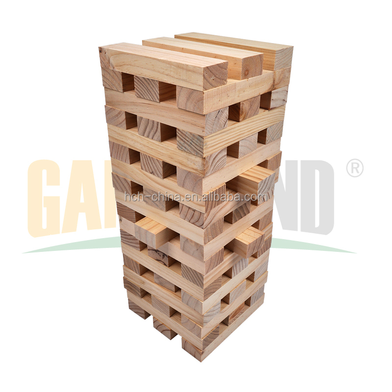 Wooden Outdoor Games Large Wooden Jenga Wood Game Giant Jenga Garden Game
