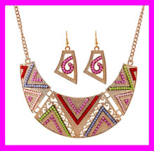 Most popular fashion nice design indian gold plated necklace earring set for women HD3745