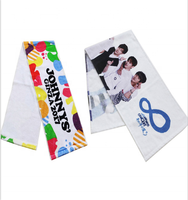 Custom Made Double Sided Printed Fans Microfiber Kpop Slogan Towel