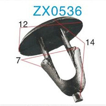 ZX best quality and lowest price Car air vent clips and Clips fastener auto for nylon clip