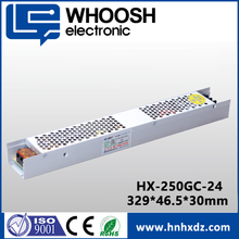 ISO9001 CE approved Slim 24V 10A 250W Power Supply for LED Driver
