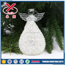 wholesale handmade glass angel wings christmas ornaments