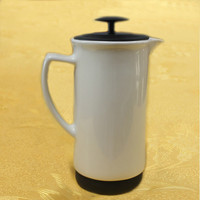 Chalkboard Matte Black Ceramic Coffee Maker French Press