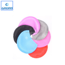 Most popular novelty different colors custom logo silicone swimming cap