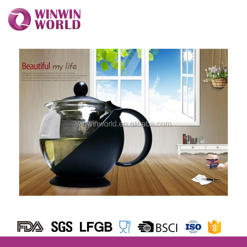 Clear Heat Resistant High temperature resistant glass tea pot
