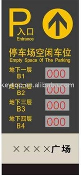 Outdoor LED Display (parking guidance system)