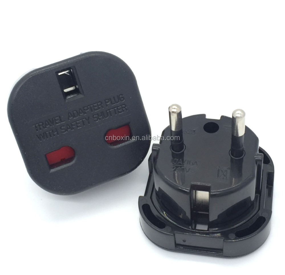 Adapter UK to EU EURO France Germany 2 pin Travel Adaptor <strong>Plug</strong>